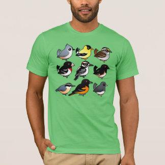 Camiseta 9 pássaros do nordeste do quintal dos EUA