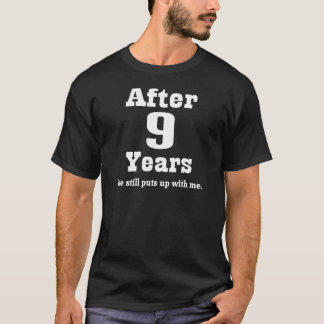 Camiseta 9o Aniversário (engraçado)