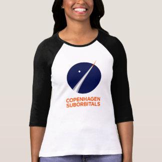 Camiseta A 3/4 de luva das mulheres com logotipo de