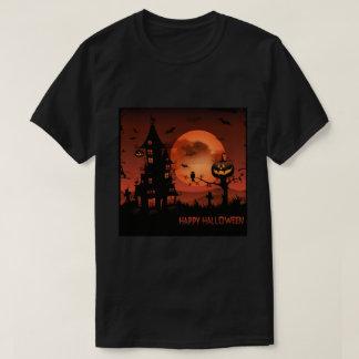 Camiseta A abóbora das cenas do cemitério do Dia das Bruxas