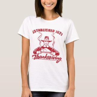 Camiseta A acção de graças estabeleceu o design 1621 do