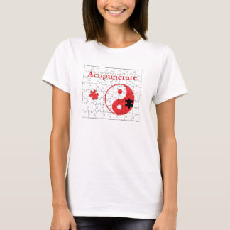 Camiseta A acupunctura une as partes Yin Yang