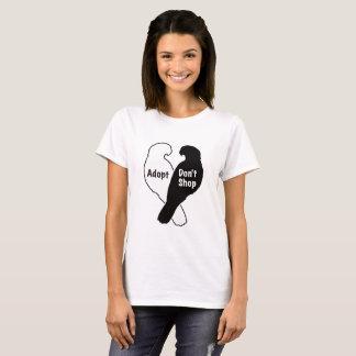 Camiseta A adopção do salvamento do papagaio não compra