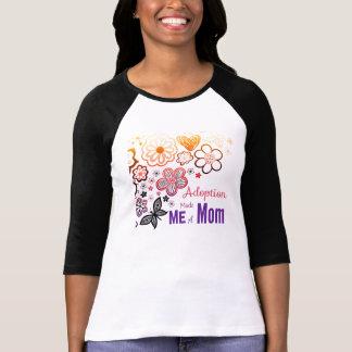 Camiseta A adopção fez-me uma mamã