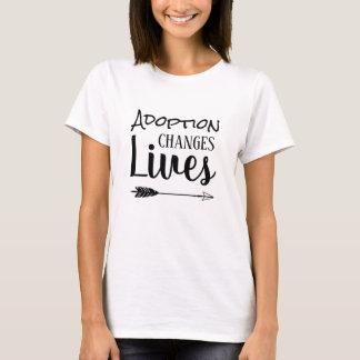 Camiseta A adopção muda vidas - adote adoptivo