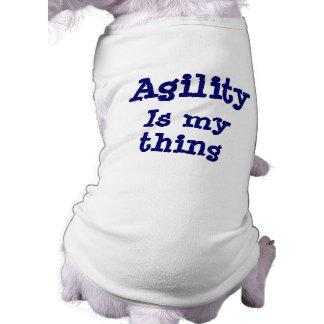 Camiseta A agilidade é meu t-shirt engraçado do cão da cois
