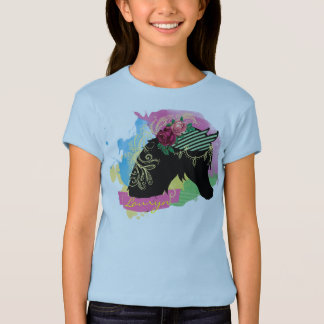 Camiseta A aguarela abstrata ilustrou o design do cavalo
