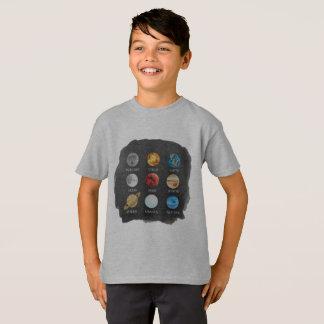 Camiseta A aguarela do sistema solar caçoa o TShirt