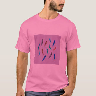 Camiseta A aguarela empluma-se o t-shirt básico dos homens