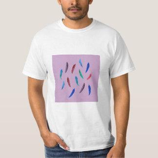 Camiseta A aguarela empluma-se o t-shirt do valor dos