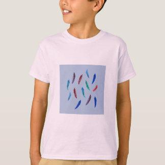 Camiseta A aguarela empluma-se o t-shirt dos miúdos