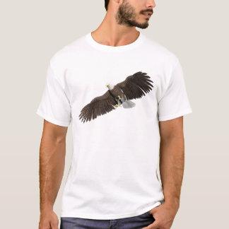 Camiseta A águia americana com as asas em para baixo afaga