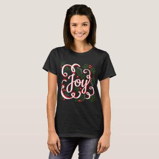 Camiseta A alegria do Natal floresce bagas & folhas do