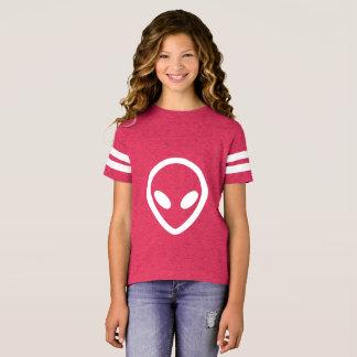 Camiseta A alienígena minimalista está olhando-o