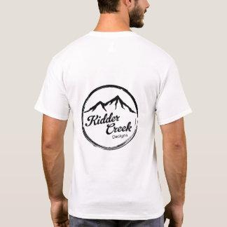 Camiseta A angra de Kidder projeta o logotipo