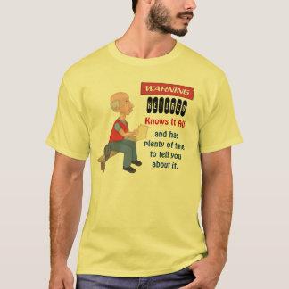 Camiseta A aposentadoria engraçada sabe-o todo