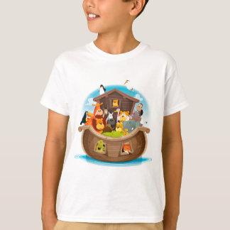 Camiseta A arca de Noah com animais da selva