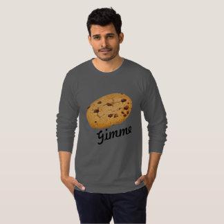 Camiseta A arte do chocolate do biscoito personaliza