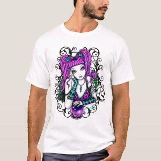 Camiseta A arte feericamente do arco-íris de Emily caçoa a
