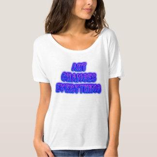 Camiseta A arte muda tudo
