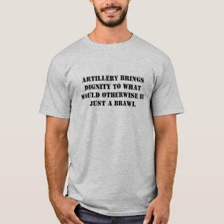 Camiseta A artilharia traz a dignidade