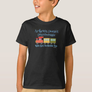 Camiseta A artrite não discrimina o t-shirt JIA do trem