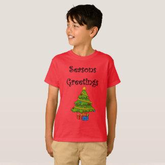 Camiseta A árvore de Natal tempera cumprimentos