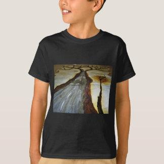 Camiseta A árvore de vida com a estrada esse th de
