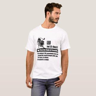 Camiseta a astrologia do zodíaco de leo assina datas, leo,