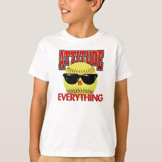 Camiseta A atitude é Tudo-Softball