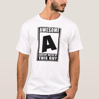 Camiseta A avaliado para impressionante