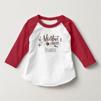 "Camiseta A ""aventura espera"" náutico personalizada"