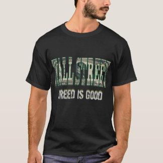 Camiseta A avidez de Wall Street é boa