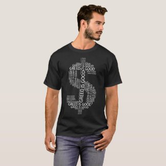 Camiseta A avidez é bom t-shirt da tipografia