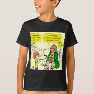 Camiseta A avó 903 está verificando desenhos animados do