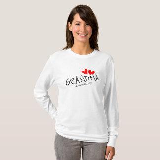 Camiseta A avó doce bonito estabeleceu a data personalizada