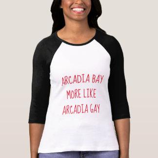 Camiseta A baía do Arcadia gosta mais do Arcadia alegre