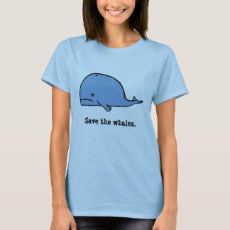 Camiseta a baleia, salvar as baleias