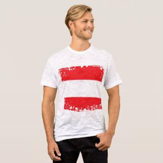 Camiseta A bandeira abstrata de Áustria, austríaco colore o