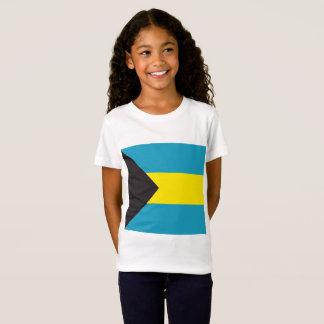 Camiseta A bandeira abstrata de Bahamas, Bahamian colore a