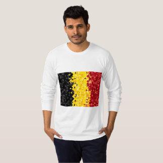 Camiseta A bandeira abstrata de Bélgica, belga colore a