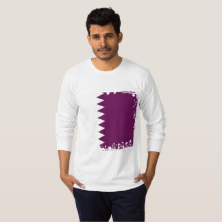 Camiseta A bandeira abstrata de Qatar, Qatari colore a