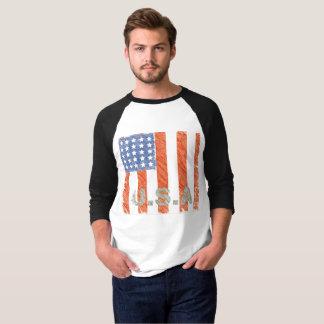Camiseta A BANDEIRA AMERICANA desvaneceu-se