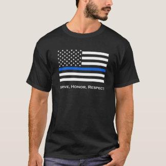 Camiseta A bandeira americana dilui Blue Line