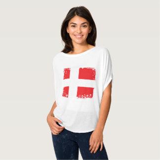 Camiseta A bandeira de Dinamarca, dinamarquês colore a