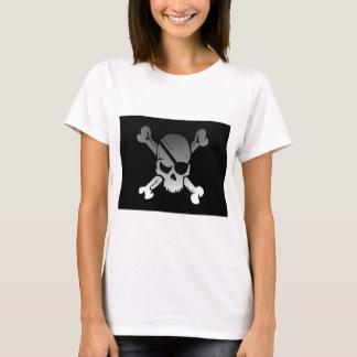 Camiseta A bandeira de pirata dos Crossbones do crânio