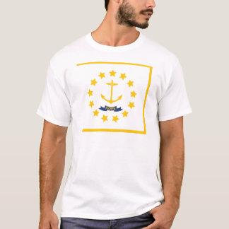 Camiseta A bandeira de Rhode - ilha.
