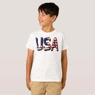 Camiseta A bandeira dos EUA rotula o t-shirt de Hanes