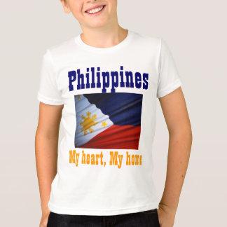 Camiseta A bandeira filipina caçoa t-shirt