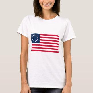 Camiseta A bandeira revolucionária de Betsy Ross da guerra